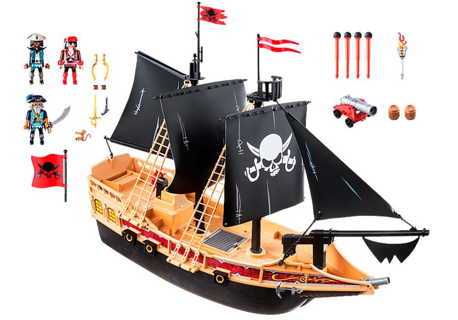 Piezas Incluidas en el Barco Corsario