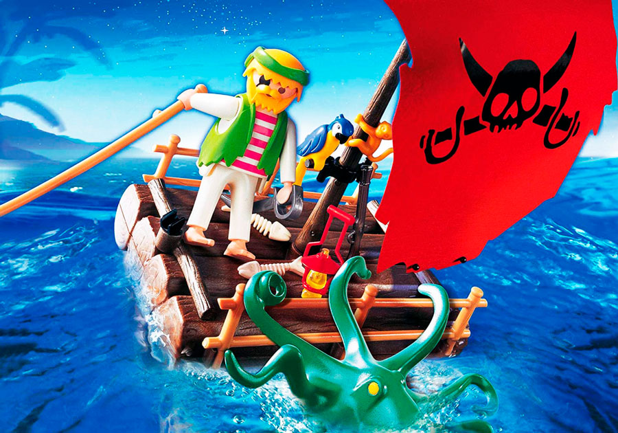 balsa pirata kraken playmobil