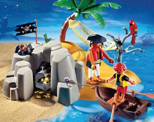 bote con remos isla tesoro