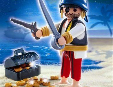pirata tuerto con tesoro Playmobil