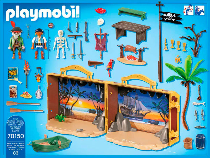 maletin isla pirata playmobil 70150 piezas